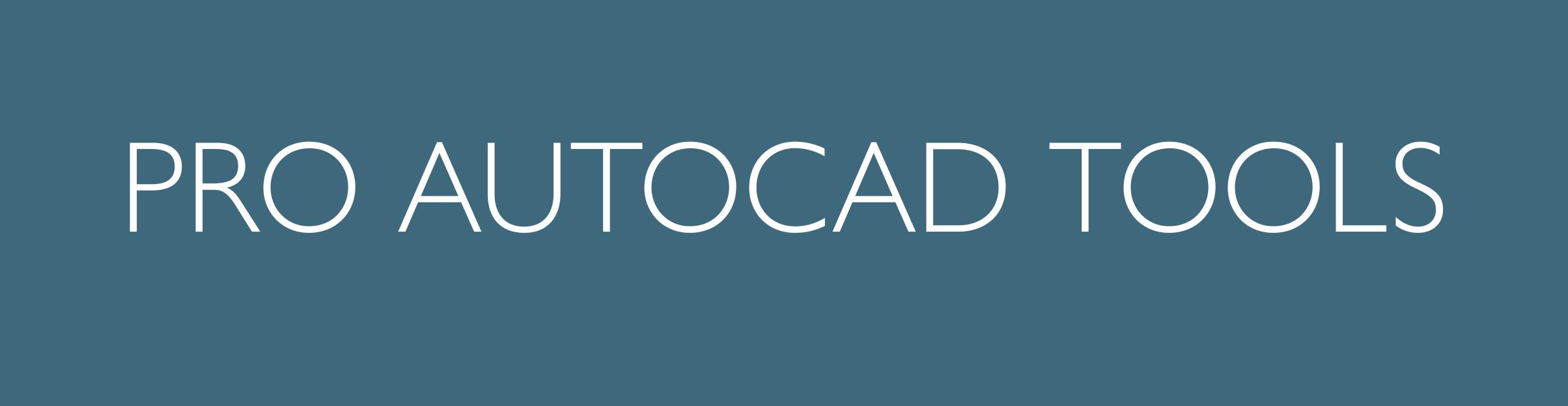 Pro AutoCAD Tools Button