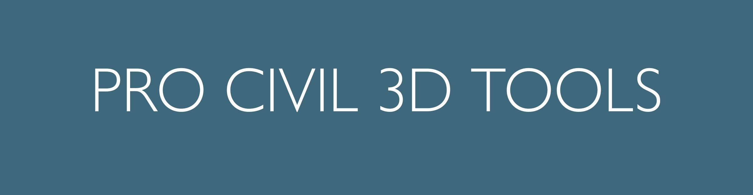 Pro Civil 3D Tools Button